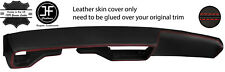 RED STITCH DASH DASHBOARD REAL LEATHER COVER FITS CHEVROLET CAMARO 1978-1981