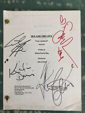 Sex and the City Autograph ScriptSarah Jessica Parker Cynthia Nixon Kim Cattrall