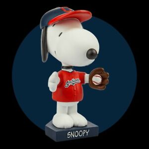 Cleveland Indians Snoopy Peanuts Bobblehead 8/8/2021 Special Promotion Presale