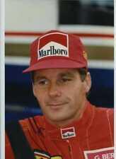 Gerhard Berger Ferrari F1 Portrait Signed Photograph 3