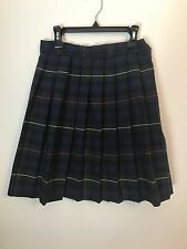 School uniform plaid #55, navy/green/yellow/red plaid skirt size 61/2
