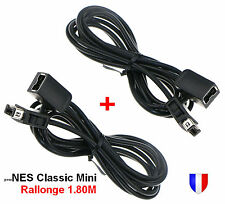 Lot 2 Câbles Extension Rallonge 1.80m 6ft pour manette Nintendo NES Mini Classic
