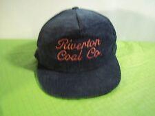 Vintage Riverton Coal Company Corduroy Trucker Hat USA Made SnapBack