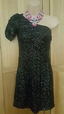 New look Black sequence one shoulder dress size 8