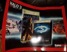 Halo 3 Xbox 360 2007 Game Stop Double Sided Store Display Poster