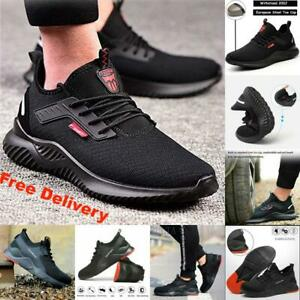 Men Steel Toe Cap Saftey Protective Shoes Lightweight Working Trainers Boots