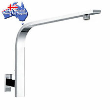 Stainless Steel Cubic Wall Square Bathroom Rainfall Upswept Gooseneck Shower Arm