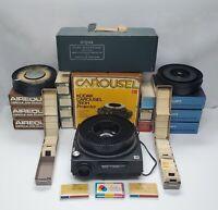 Vintage 1000+ 35MM Photo Slide Lot Red Border, KodaChrome + equipment + more