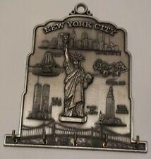 New York City Skyline Key Holder Wall Decor rack metal Ring Ktchen Hook vintage