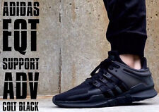 ADIDAS Originals 2018 EQT Support ADV 91/17 Turbo Core Nero TRIPLE UK 8 OG vendita