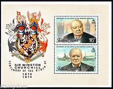 FALKLAND ISLANDS 1974 Churchill Centenary SS/MS MNH @J592