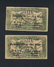 Japan - Philippines Cagayan 2 Items 5 Centavos 1942 Emergency Note