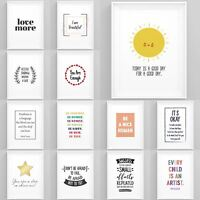 Inspirational Quotes and Sayings Framed Prints Wall Art Home Decoration