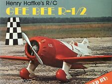 "Model Airplane Plans (RC): GEE BEE R-1/2 1/6 Scale 56""ws for .60 by Henry Haffke"