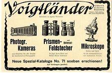 Braunschweig, Voigtländer & Sohn Photogr. Kameras Feldstecher Mikroskope v. 1907