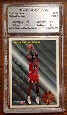 Michael Jordan Fleer #224 Basketball Card 1993 - 1994 TFA 9.0