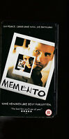 VHS Movie Video MEMENTO - Guy Pearce, Carrie-Anne Moss, Joe Pantoliano (PAL)