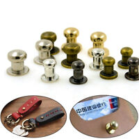 5pcs Leather Craft DIY Pure Copper Screw Buckle Monk Head Nipple Nails Tool