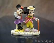 """Mickey and Minnie Mouse in Love Romantic Figurine Statue 5.5""""x6.5"""" Tophat Disney"""