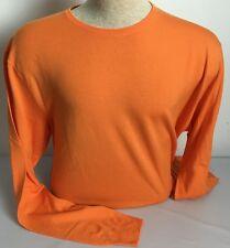 Ralph Lauren Purple Label Mens Sweater Orange Medium Wool Crewneck