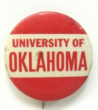 "1940's to 1950's UNIVERSITY OKLAHOMA football larger size 1.5"" pinback button ^"