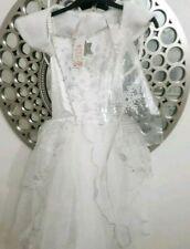 Angel Fairy Sparkle fancy Dress,detach  wing,wand,fur,9-10,bnwt,role play home🧚