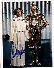 CARRIE FISHER STAR WARS 8X10 AUTHENTIC IN PERSON SIGNED AUTOGRAPH REPRINT PHOTO