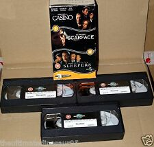 .Al Pacino Mafia Robert De Niro Sharon Stone TRIPLE BOX SET RARE 3 Tape VHS SET