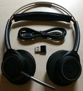 Original Plantronics Voyager FOCUS UC B825 Bluetooth Dual-Ear (Stereo) Headset