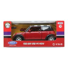 WELLY mini cooper Diecast Metal Display RED&Check
