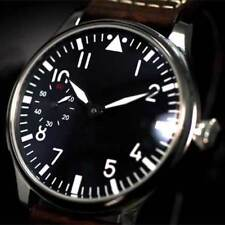 44mm parnis Black Dial Stainless steel 6497 Hand Winding movement men's Watch