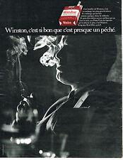 PUBLICITE ADVERTISING 094  1970  WINSTON   cigarettes