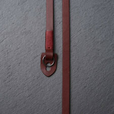 Handmade Genuine Leather Camera strap Neck Straps for film EVIL Camera Wine Red