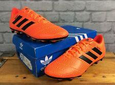 ADIDAS MENS UK 9.5 EU 44 NEMEZIZ 18.4 FG ORANGE FOOTBALL BOOTS PERSONALISED