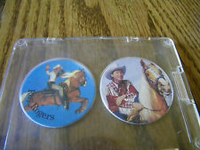 ROY ROGERS BOTTLE CAPS  / POGS SET OF 2 ARROWCATCH PRODUCTIONS 1992