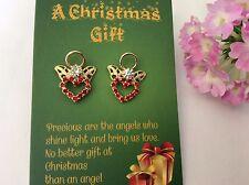 Earrings ANGEL Christmas Gift pierced ears Swarovski Rhinestones Colour Options