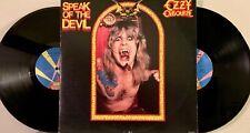 OZZY OSBOURNE SPEAK OF THE DEVIL ORIG. 2xLP 1982 JET w/ INNERS & SABBATH SONGS