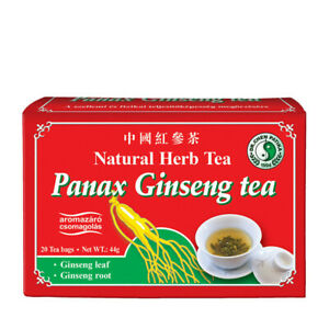 Dr Chen Panax Ginseng Tea Traditional Natural Root and Leaf Blend 20 Teabags