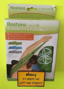 ❤️Gaiam Restore Strength Flexibility Kit Light Medium Heavy Resistance Bands❤️