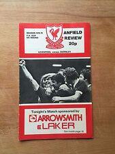 Liverpool v Burnley programme 1978/79