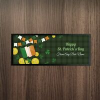 Personalised St Patrick's Day Irish Flag & Lucky Coins Design Bar Runner Bar