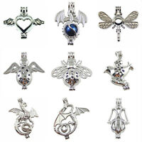 9pcs/Set Mix Dragon Angel Locket Pearl Cage Pendant for Necklace Jewelry Making