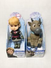 "Jakks Pacific Disney Mini Toddler Dolls 3"" Kristoff & Sven Lot"