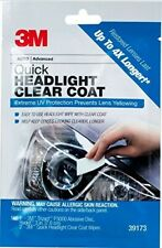 3M 39173 Quick Headlight Clear Coat ***Improve and Extend Clarity of Lenses*** (