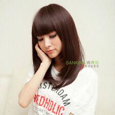 UKJF268  fashion Style brown medium cosplay Hair Anime health Wig wigs
