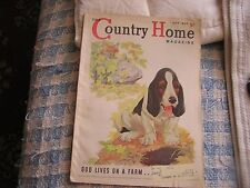 Country Home Magazine October 1937