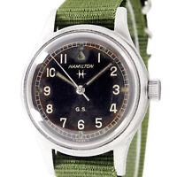 Hamilton British Military G.S Tropicalized Vintage Men's Wrist Watch 75003-3