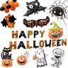 Large Halloween Ghost Pumpkin Black Cat Bat Halloween Foil Balloons Decor Hot