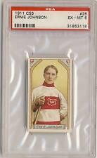 ERNEST MOOSE JOHNSON 1911-12 C55 Imperial Tobacco #28 PSA 6 EX-MT WANDERERS HOF