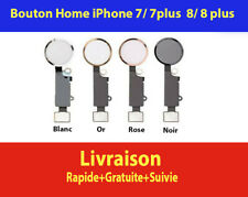 BOUTON HOME FONCTIONNEL + NAPPE IPHONE 7 / 7 PLUS 8 / 8 PLUS BLANC NOIR OR ROSE